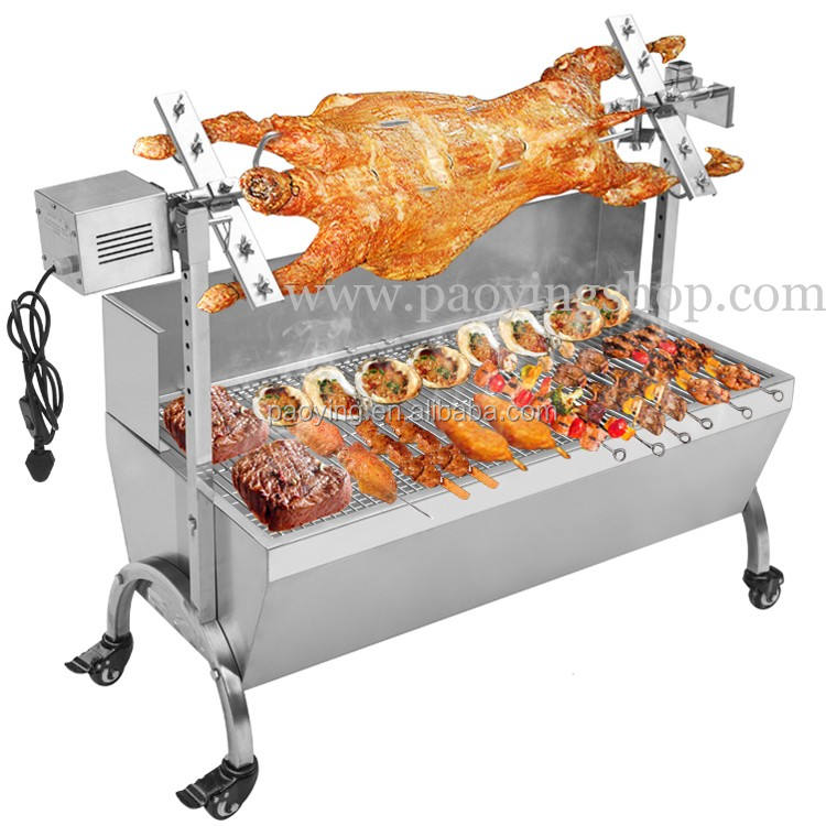 60キロ120センチメートルCommercial Stainless Steel Charcoal Barbeque Pig Roaster