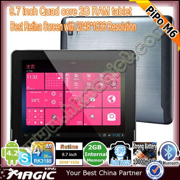 Top vente tablet pc de marque sur le marché usa- pipo m6 pro 3g