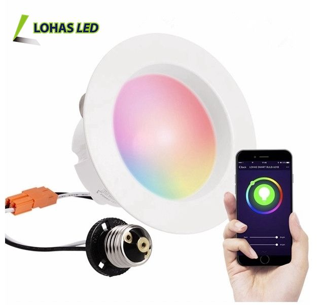 4 Inch 6 Inch 9W 15W Remote Control Wifi Tuya Smart RGB+2700-6000K LED Downlight