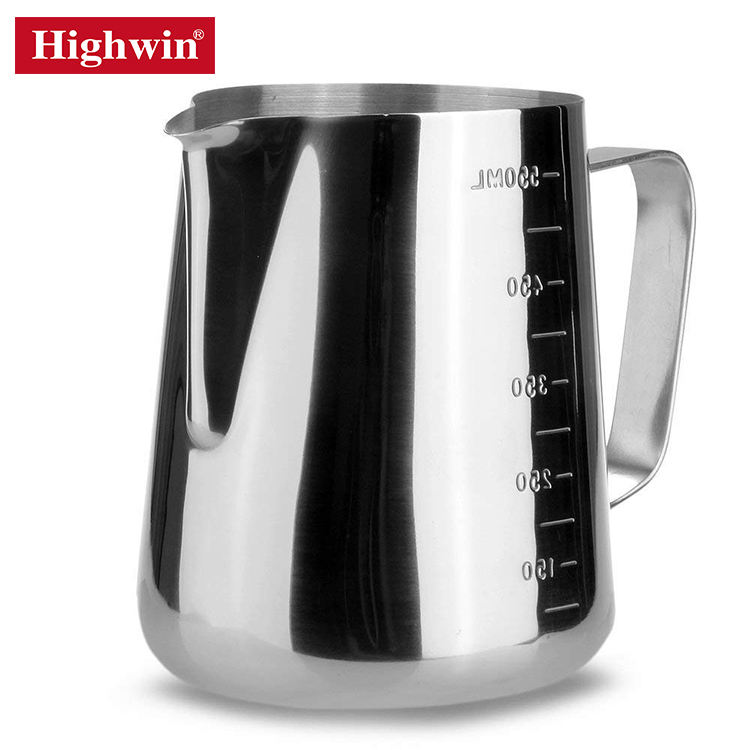 Highwin Factory ISO9001 Stainless Steel Frothing Latte Art Milk Frothing Milk Pitcher Milk Jug