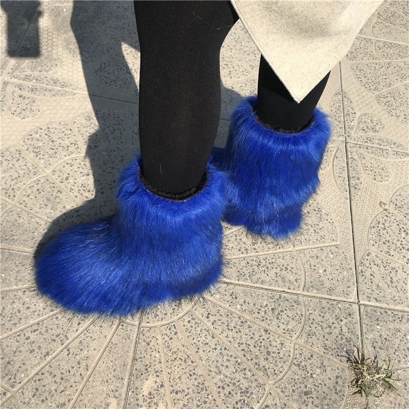 Hotsale women winner fur boots with faux fur