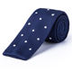 Mens Polka Dot Microfiber Knitted Embroidered Neckties for Men Adult Pattern Slim Cravat