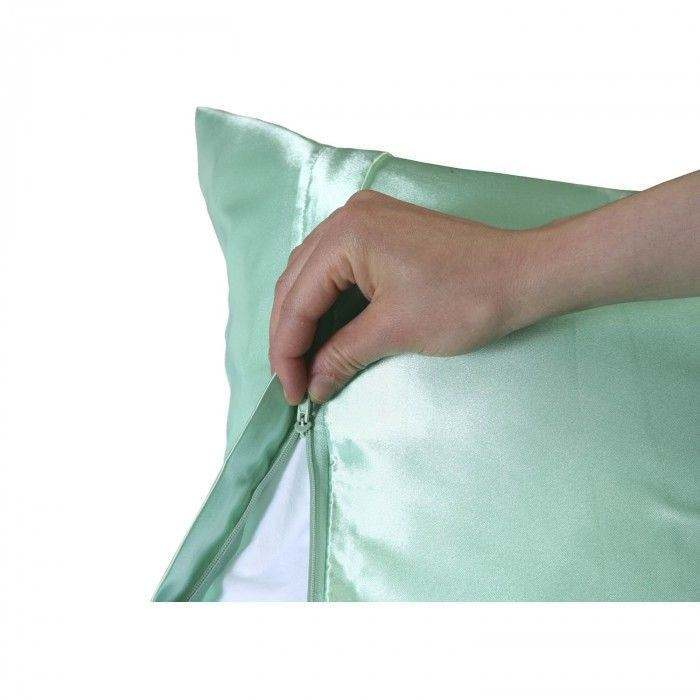 Solid Color 100% Polyester Shiny Satin 베갯잇