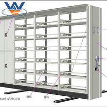 High quality school library steel movable book shelf