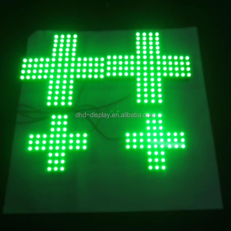 Hot sales led pharmacy cross sign market led cross light hole punched front lit letters signs