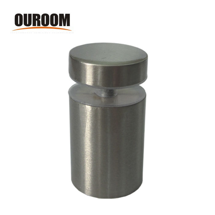 Ouroom/OEM Customize Stainless Steel Chrome Glass Shelf Brackets Clamp Glass Holder brackets