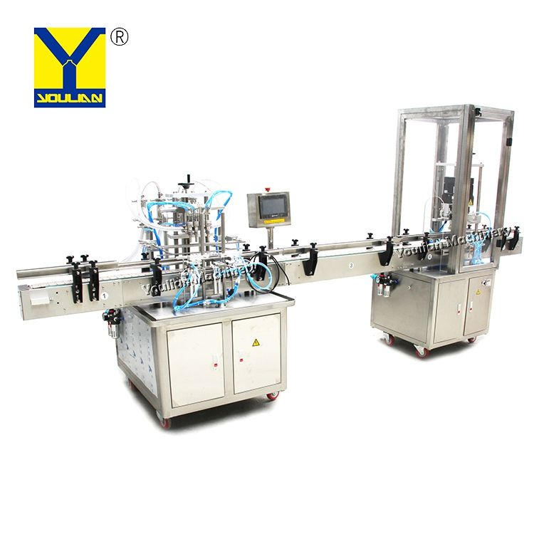 YT4T-CDX Wholesale Electric Automatic Piston Liquid Filling and Capping Machine for Plastic Bottle