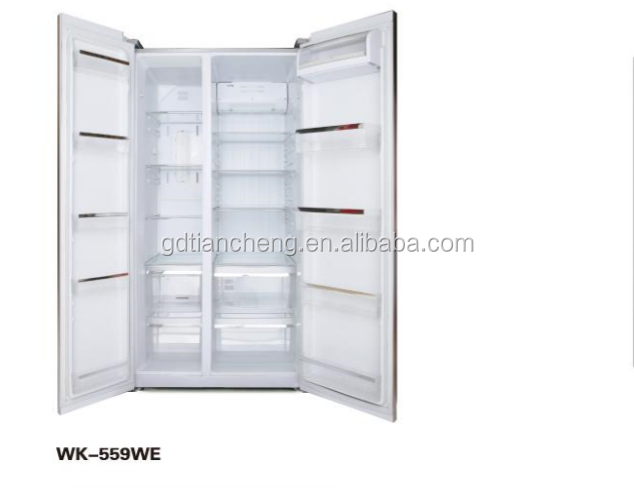 WK-559WE Silvery color A+ Double door upright upright refrigerator