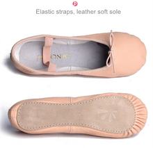 JW China manufacturer professional girls dance shoes leather ballet shoes