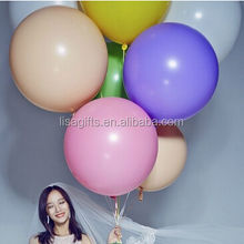 36 Inch Plain Solid Color Perfect Round Shape Giant Latex Balloons with Tassels For Wedding Decorations
