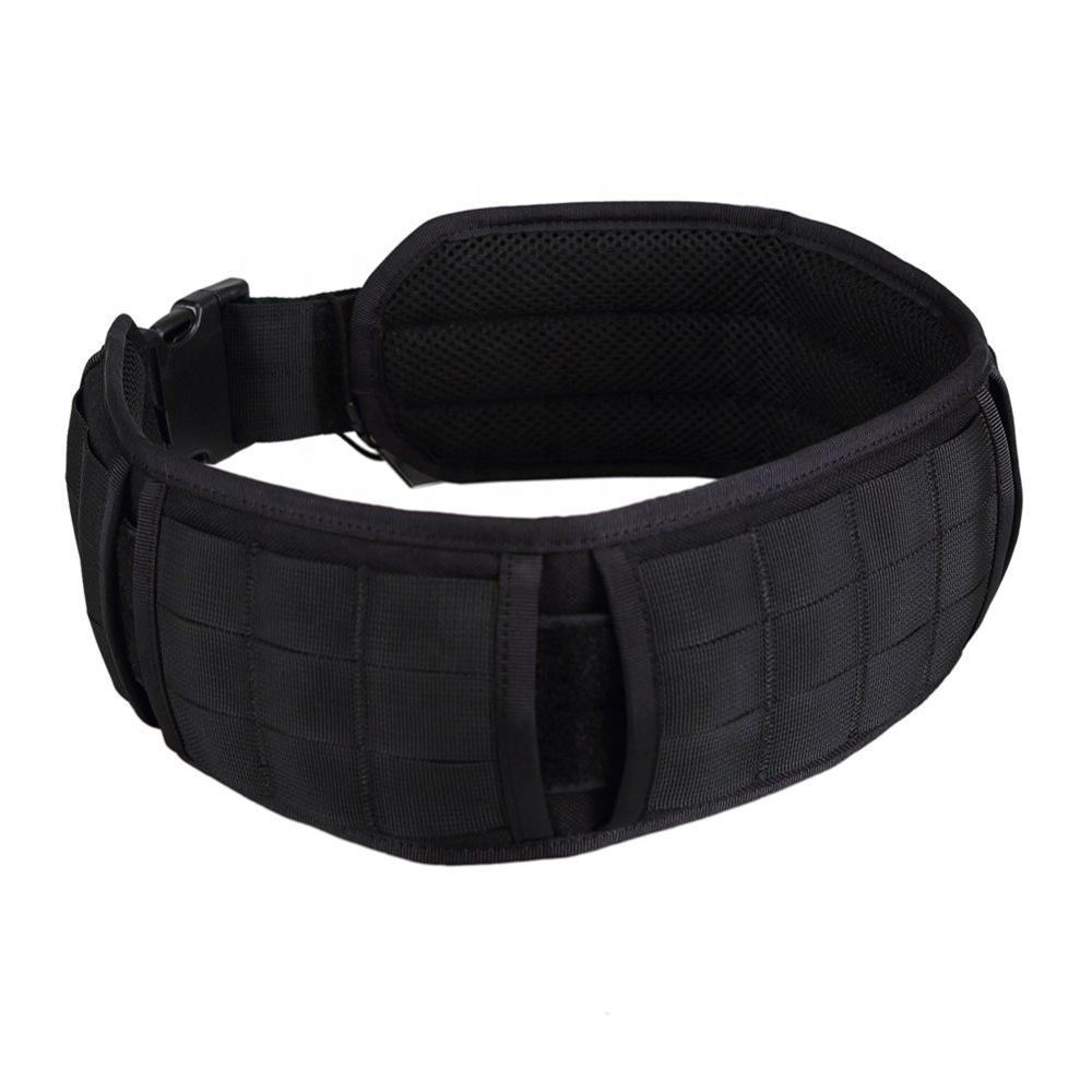 Padded Battle Patrol Belt Dual-use MOLLE Belt with Mesh Lining for Shooting Airsoft Wargame Paintball Hunting