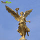 Golden Finished Metal Sculpture Bronze Angel Statue