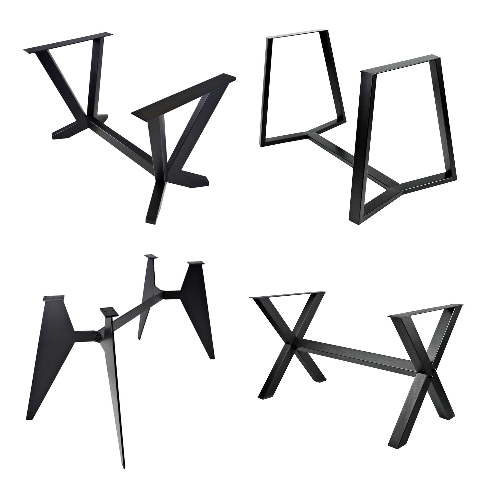 Modern metal Slab Table Frame, Y-Shaped Table Legs, Wood Slab Support Feet Custom-made