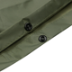 Waterproof lightweight PVC army green raincoat& poncho military rain bicycle poncho