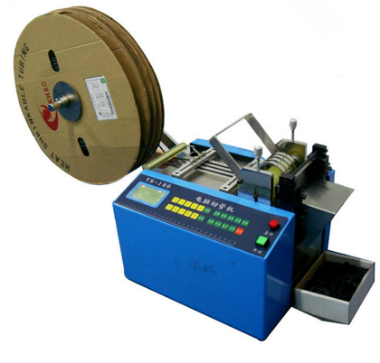 Automatic Heat Shrinking Tube Nickel Strip Plastic Tape Cutting Machine for PVC Tube /Label/Cable/Film/Foil/Sleeve Cutting