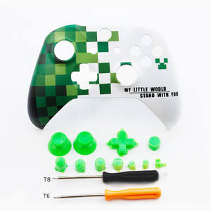 DIY Game cover Top Up Front Shell Case Housing Face plate Faceplate + Buttons For Xbox One slim S / X Controller