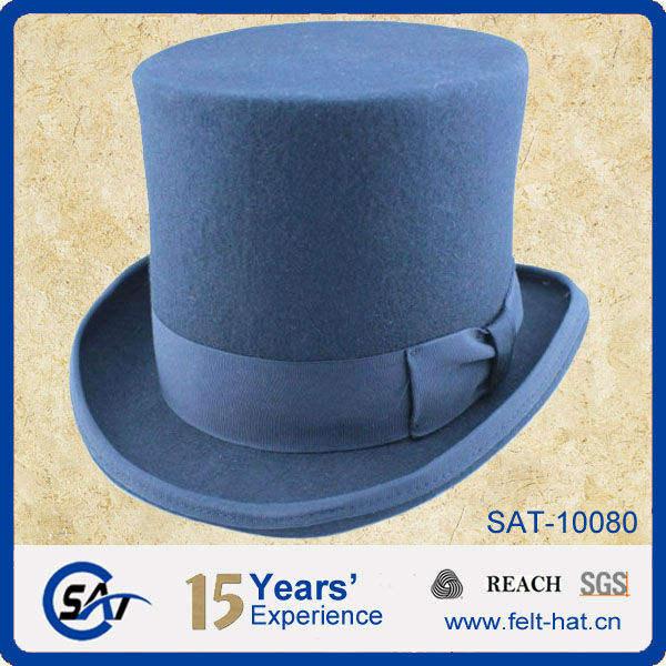 Top Hat High Quality Hats 100/% Wool Felt Royal Blue Grey Mustard Yellow Topper