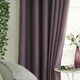 blackout curtain with hooks imitated linen fabric curtain