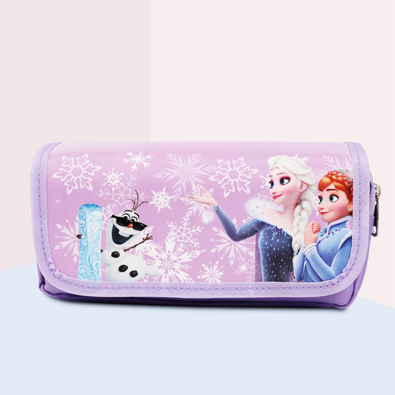 TOPSTHINK Custom Ice princess flip pencil pouch cute cartoon pencil bag