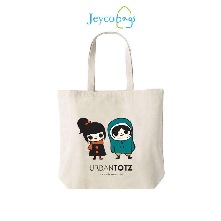JEYCO BAGS Sedex 4P factory wholesale customized large ecological canvas tote organic cotton bag