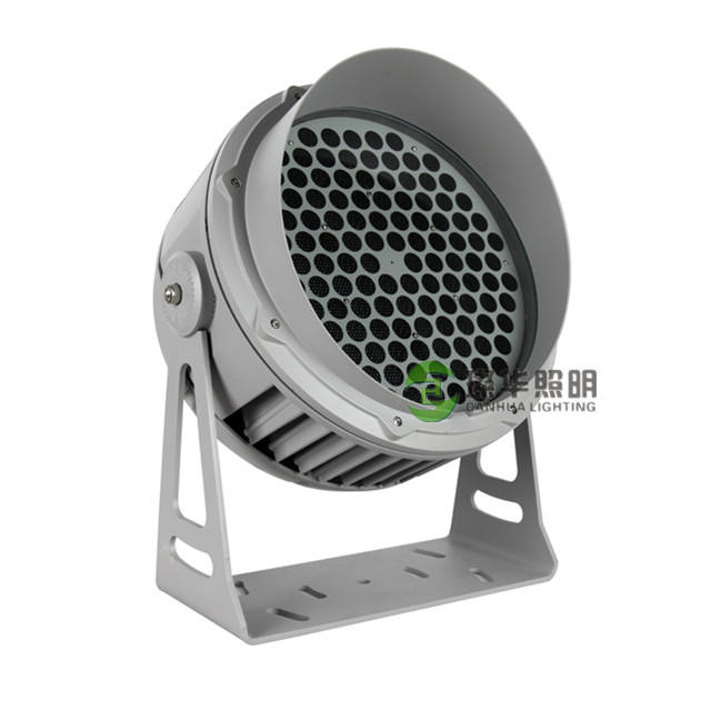 Round building hotel IP65 garden DMX512 RGB RGBW flood light 18W 36W 60W 72W 120W led outdoor landscape spotlight
