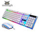 Factory wholesale led lights teclado gamer gaming keyboard and mouse combos
