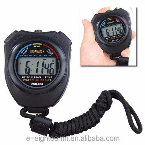 new LCD Digital Professional Chronograph Timer Counter Sports Stopwatch Stop Watch
