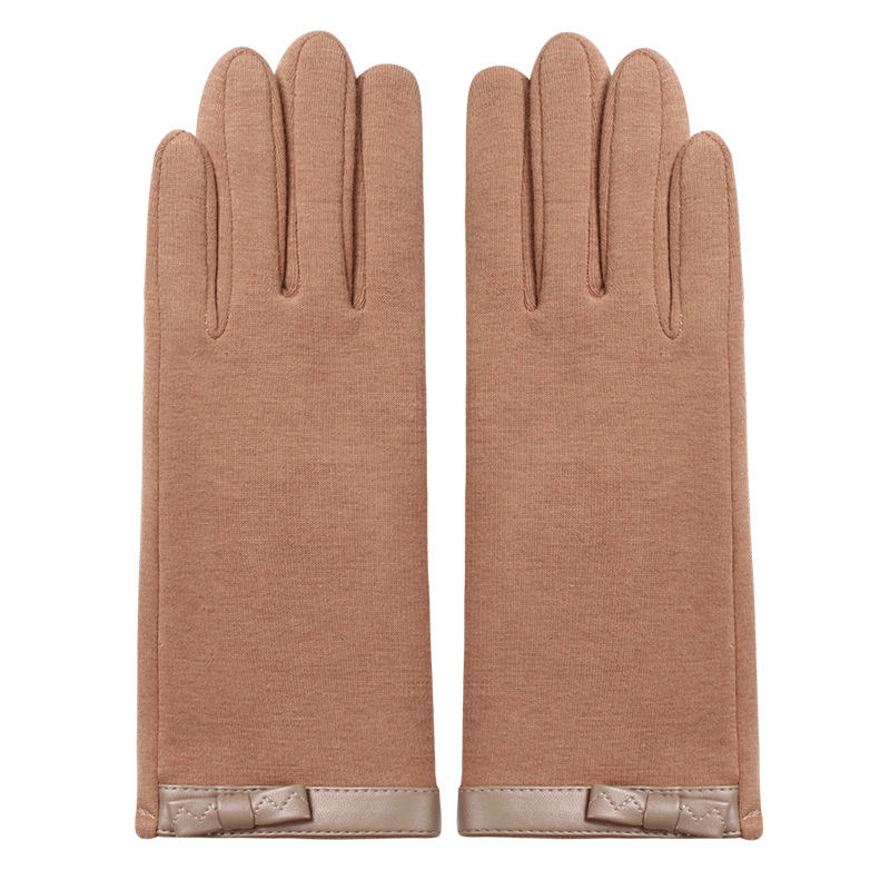 Geshida hot touch screen best wool polyester bow tie women gloves