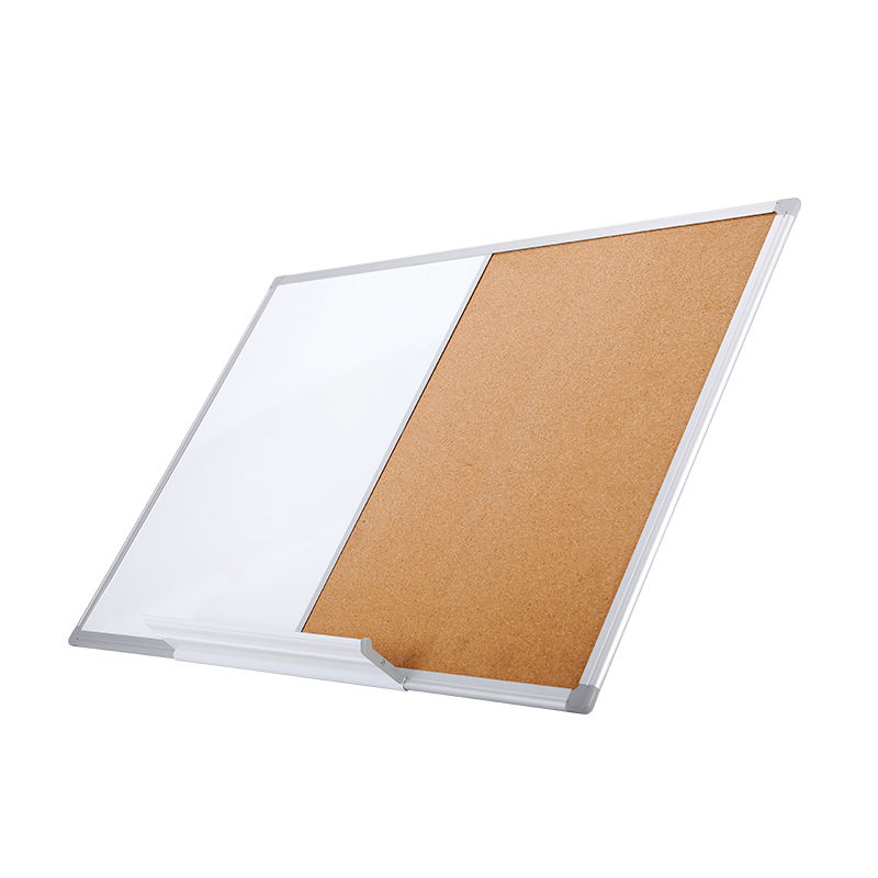 40*60cm Magnetic White Dry Erase Message Cork Board In Aluminum Frame