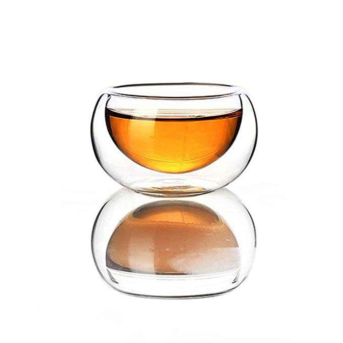 50ml Double wall Glass Kungfu Tea Coffee Cup Daily Drinkware Juice cup Water Tea Milk giftset Mini Glass Cup