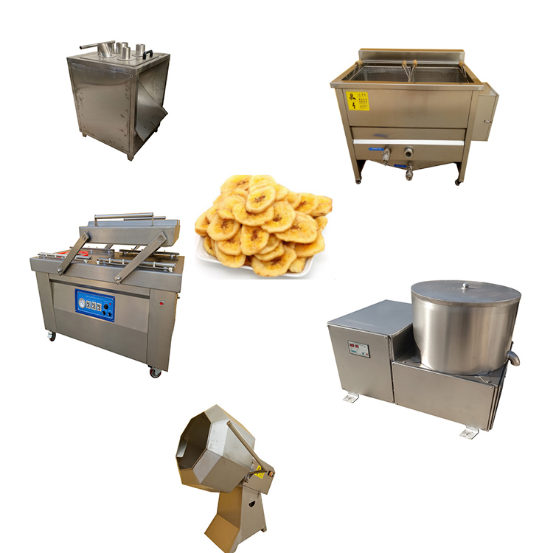 Automatic Compound Complete Frozen French Fries Banana Chips Fry Production Processing Line