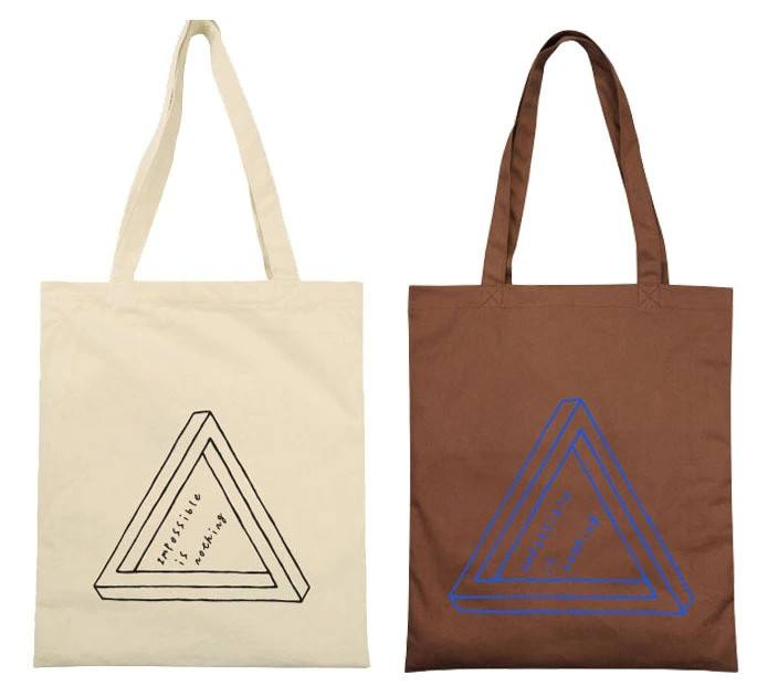 Printed Logo Cotton Purse Canvas Grocery Shopping Tote Bag Shopper Tote Bag