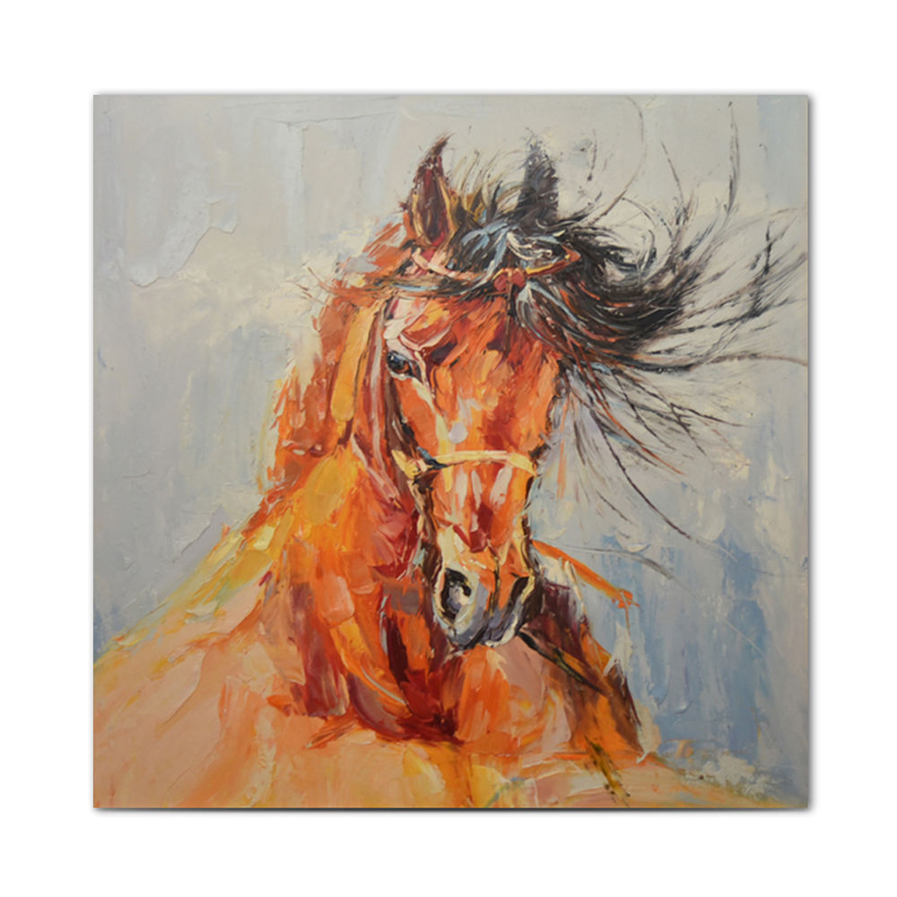 Animals Horses Group Artwork Oil Painting Printed On Canvas Home Art Wall Decor