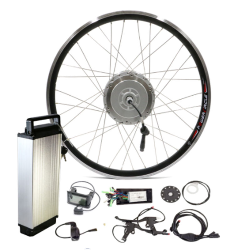 Newest DIY 36V 48V Electric Bike 500W Motor Kit Sam Li-ion Battery Bafang Conversion Kit wheel Hub Motor with Lithium Battery