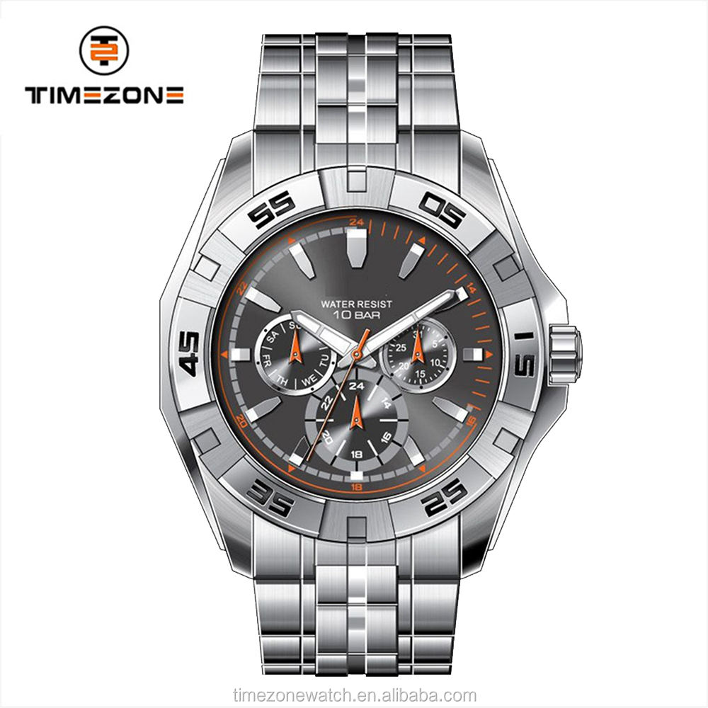 Men quartz watch ronda precision machine waterproof cheap chronograph watch