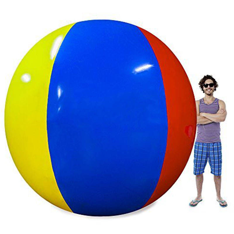 Wholesale Custom Printed Jumbo PVC Rubber Beach Ball/Promotional Inflatable Large Giant Plastic Beach Ball