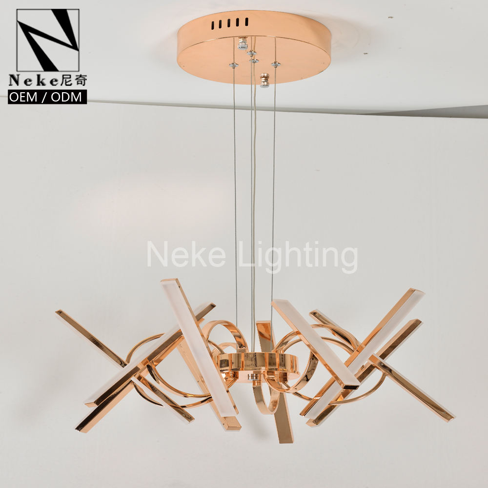 Di alta qualità di stile moderno <span class=keywords><strong>acrilico</strong></span> led hanging light chandelier