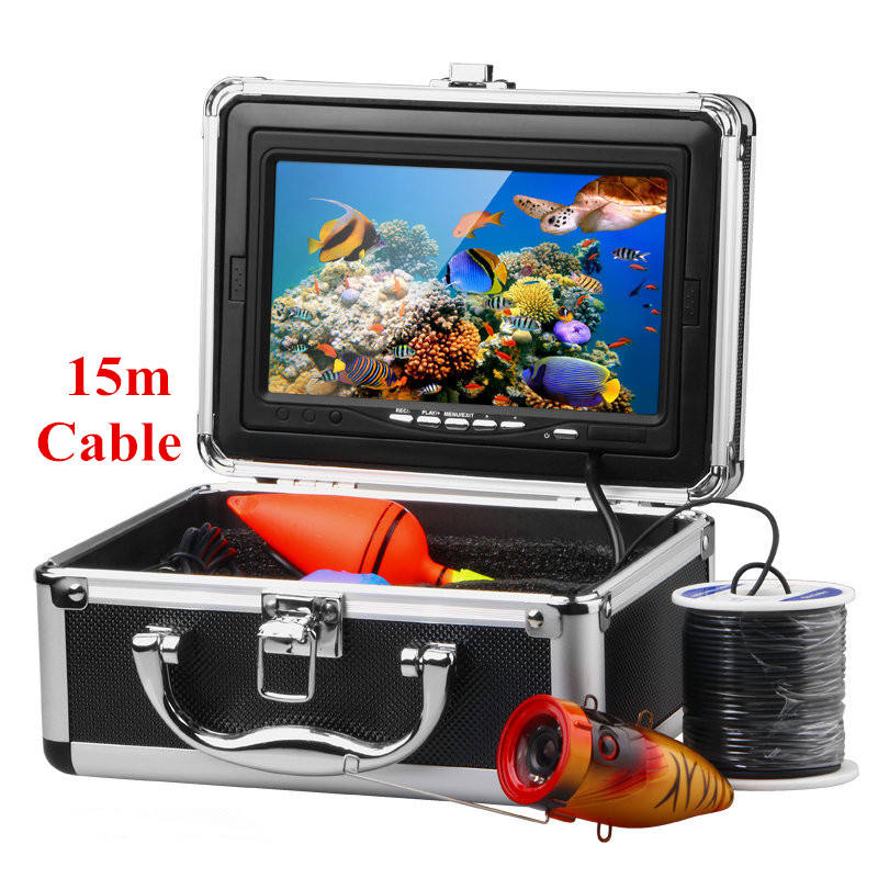 "7"" LCD Monitor Fish Finder Underwater Fishing Camera With 15M Cable For Fishing"