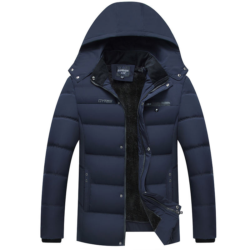 2020 Plain Custom Design Nylon Fabric Padded Mens Jackets Coats Winter Cotton Man Jacket Manufacturer