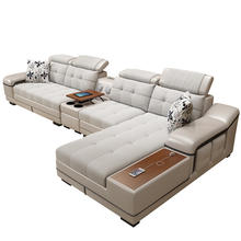 Customizable and Reconfigurable Hot Sale L Shaped Genuine Leather / PU Sofa Sectional Corner Sofa Living Room Set 7 Seater Couch