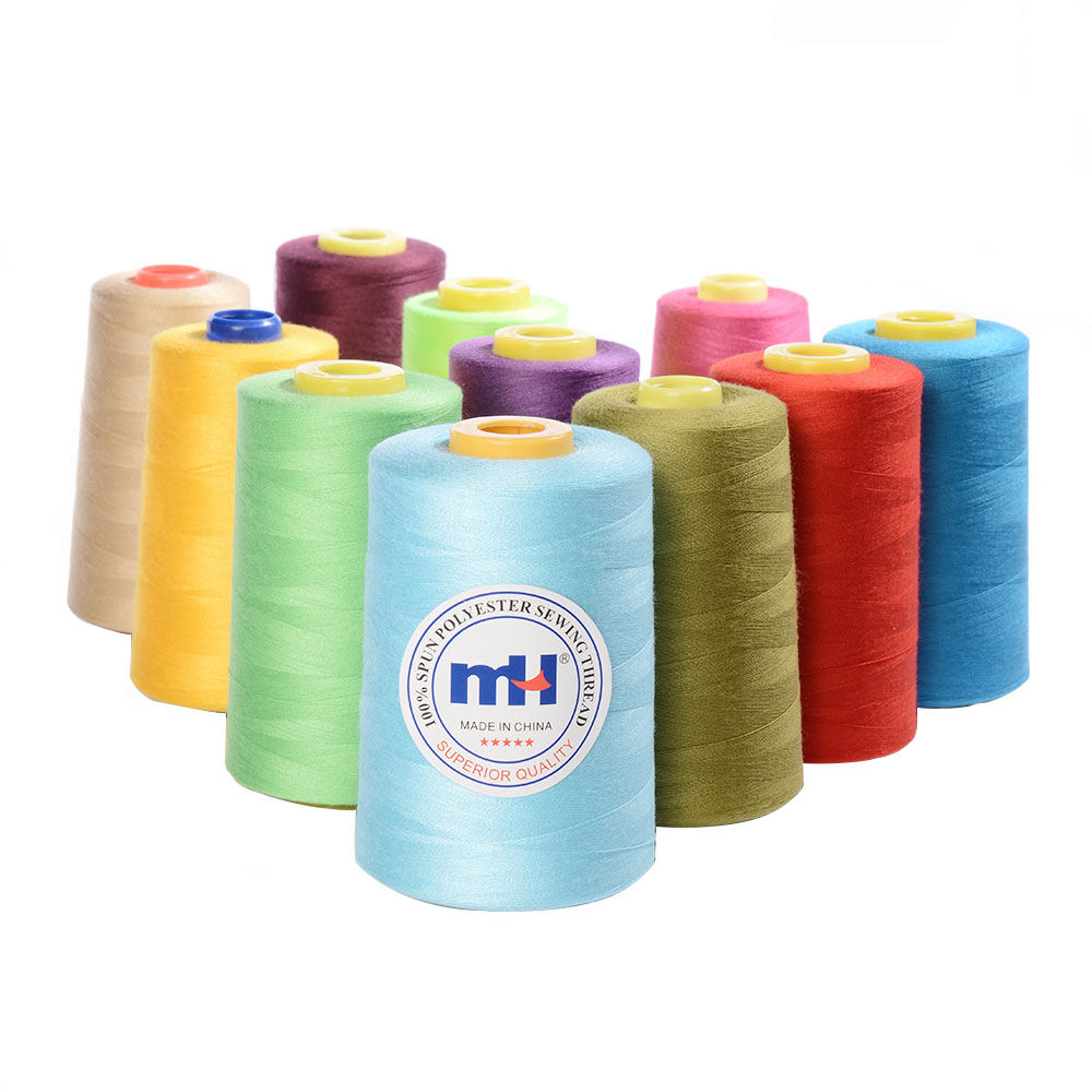 40 2 5000Y Hilos Hilo De Poliester Coser 40/2 100% Spun Polyester Sewing Thread 5000yards Wholesale
