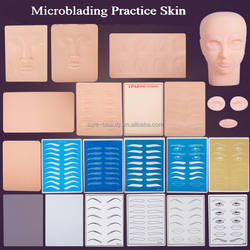 3D Eyebrow Tattoo Makeup Silicone Practice Eyebrow Tattoo Skin for Microblading Permanent Makeup