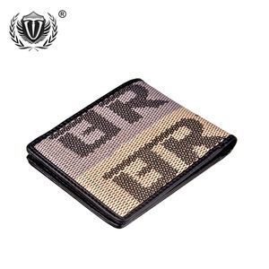 JDM Racing Culture Fabric JDM Racing Short Non Leather Bifold Trend Money Canvas OEM Custom Men's Wallet