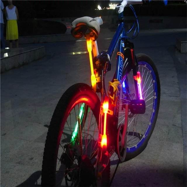 Brand New Bike Bicycle Safety Warning Luminous Side Glowing LED Lights Strip
