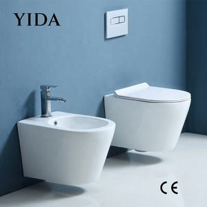 YIDA Sanitary Ware Rimless Flush Simple Design European Hotel CE Certificate Ceramic Wall Hung Toilet