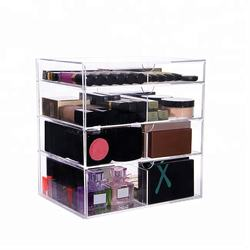 Makeup Brushes and Jewelry storage 4 drawers wholesale acrylic makeup organizer with drawers