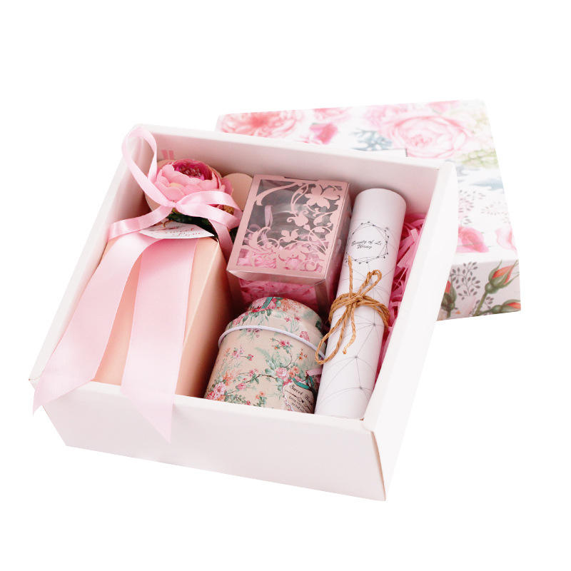 Nordic gift box Creative New Wedding Flower Candy Box High-end Bridesmaid of honor Sugar Return Gift Box