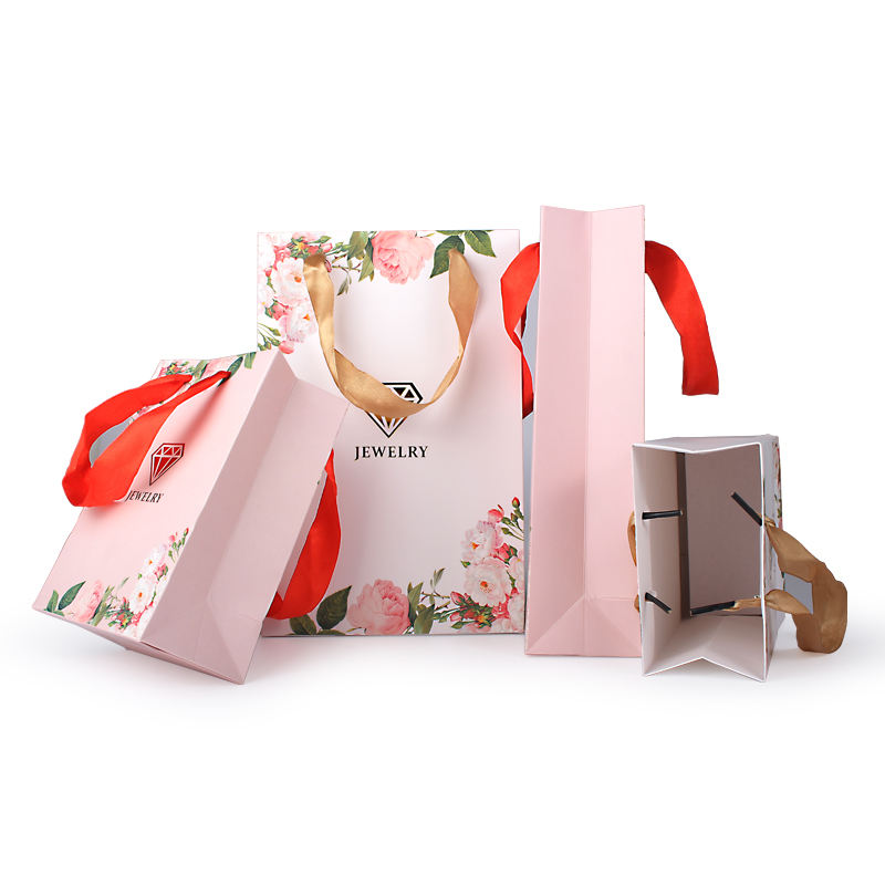 Oem paper fancy jewelry anniversary tote paper gift bag