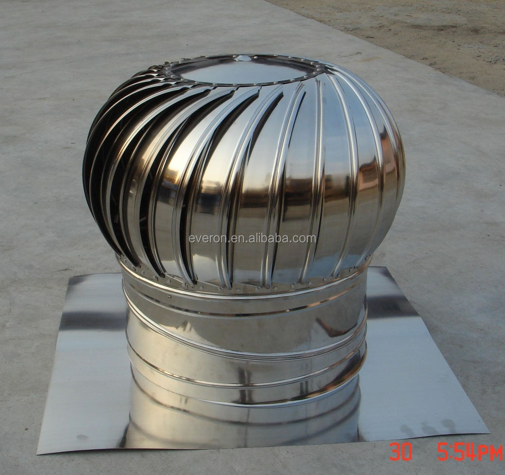 300mm Roof Mounted Exhaust Fan/no power roof ventilation fan/turbo fan for sale