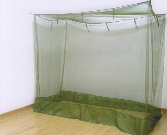 long lasting green square army/military insecticide treated travel mosquito bed nets/mosquito net philippines/ mosquitero